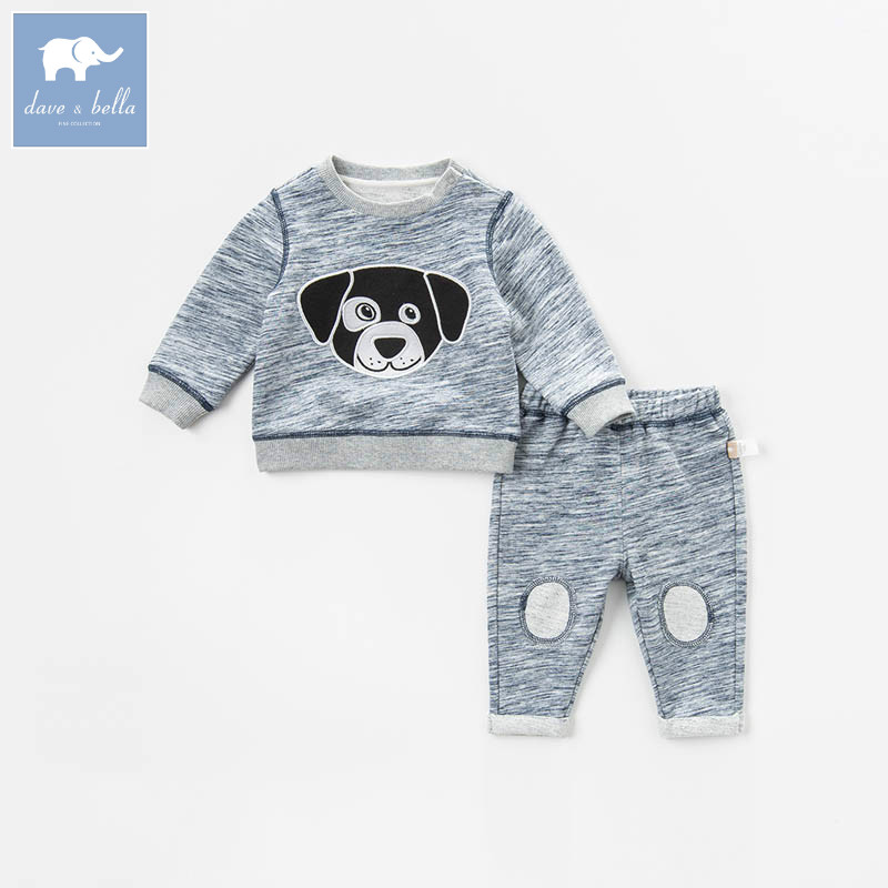 DB7202 dave bella spring baby boys clothing sets toddler children suit high quality toddler outfits Clothing Suits children s clothing sets spring