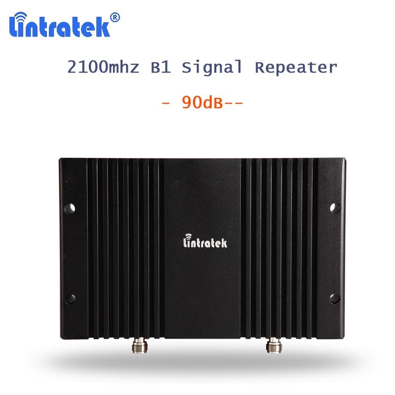 Lintratek WCDMA 2100Mhz Band 1 Mobile Phone Signal Amplifier 90dB 3G UMTS/HSPA/CDMA Celular Amplificador Reporter 3g AGC MGC S20