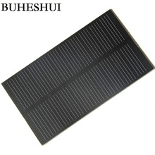 BUHESHUI 1W 5V 200MA Solar Cell Module Monocrystalline PET Solar Panel DIY Solar Charger Education Kits 107*61MM 2pcs/lot