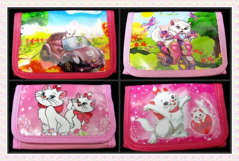12Pcs Marie Cat Girls Coin Purse Cute Kids Cartoon Wallet Kawaii Bag Pouch Children Purse Small Wallet Party Supplies Gift