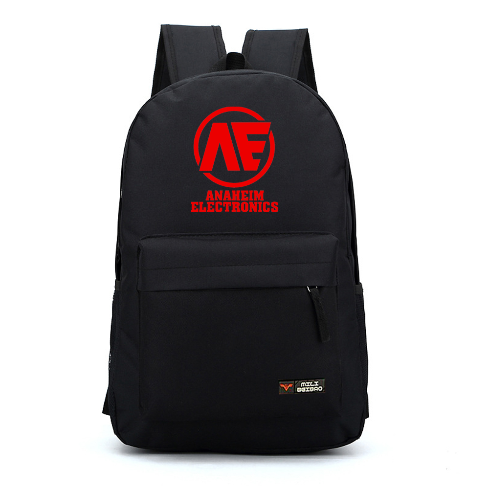 cool anime fans gift Gundam unicorn concept AE ANAHEIM ELECTRONICS logo printing black red nylon big backpacks pure color nb237