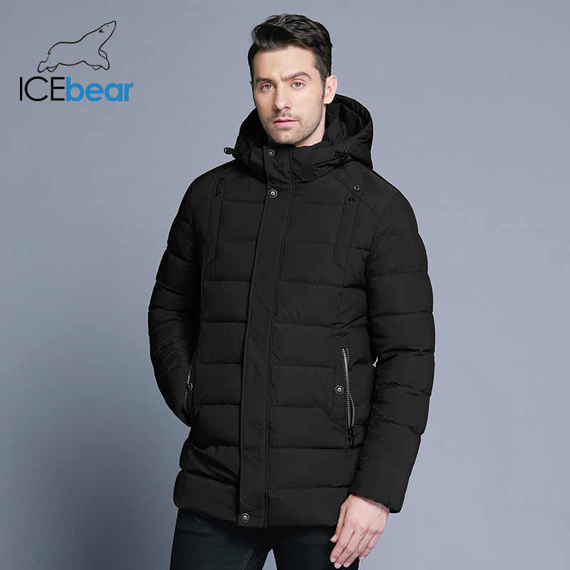 ICEbear 2018 Новинка теплая зимняя куртка мужская со съемным капюшоном  мужская короткая куртка стильный повседневный мужской acb7a19d442
