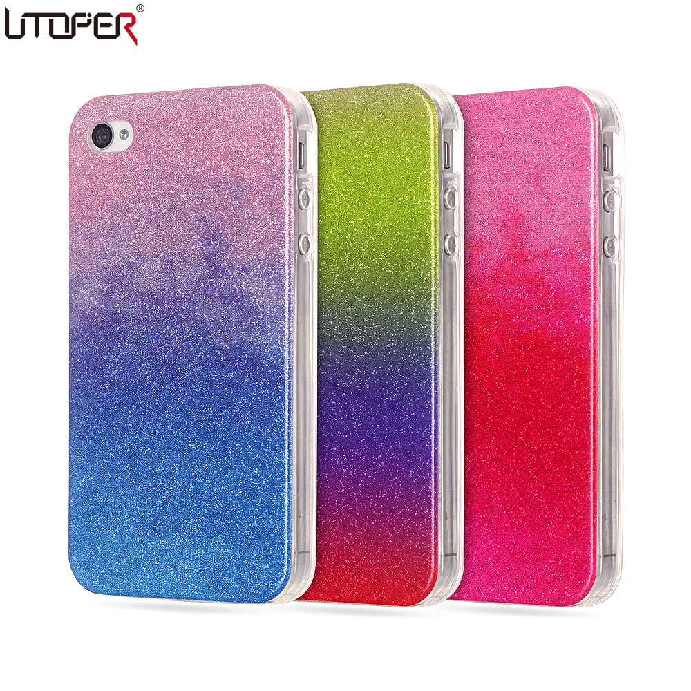 iphone 4s accessories for iphone 4s silicon glitter slim phone cover for 9987