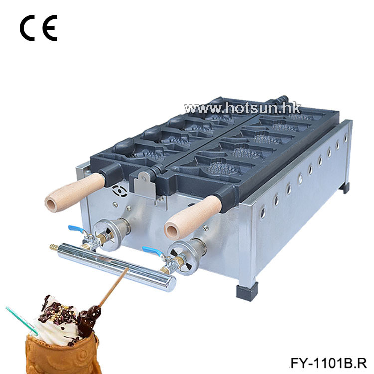 Commercial Non-stick LPG Gas Ice Cream Fish Waffle Taiyaki Iron Maker Baker Machine commercial use non stick lpg gas japanese takoyaki octopus fish ball maker iron baker machine