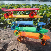 New 22″ Skateboard Pastel Skate Board Scooter Style Colorful Decks Retro Cruiser Complete Skateboard Bearing-ABEC-7 Longboard