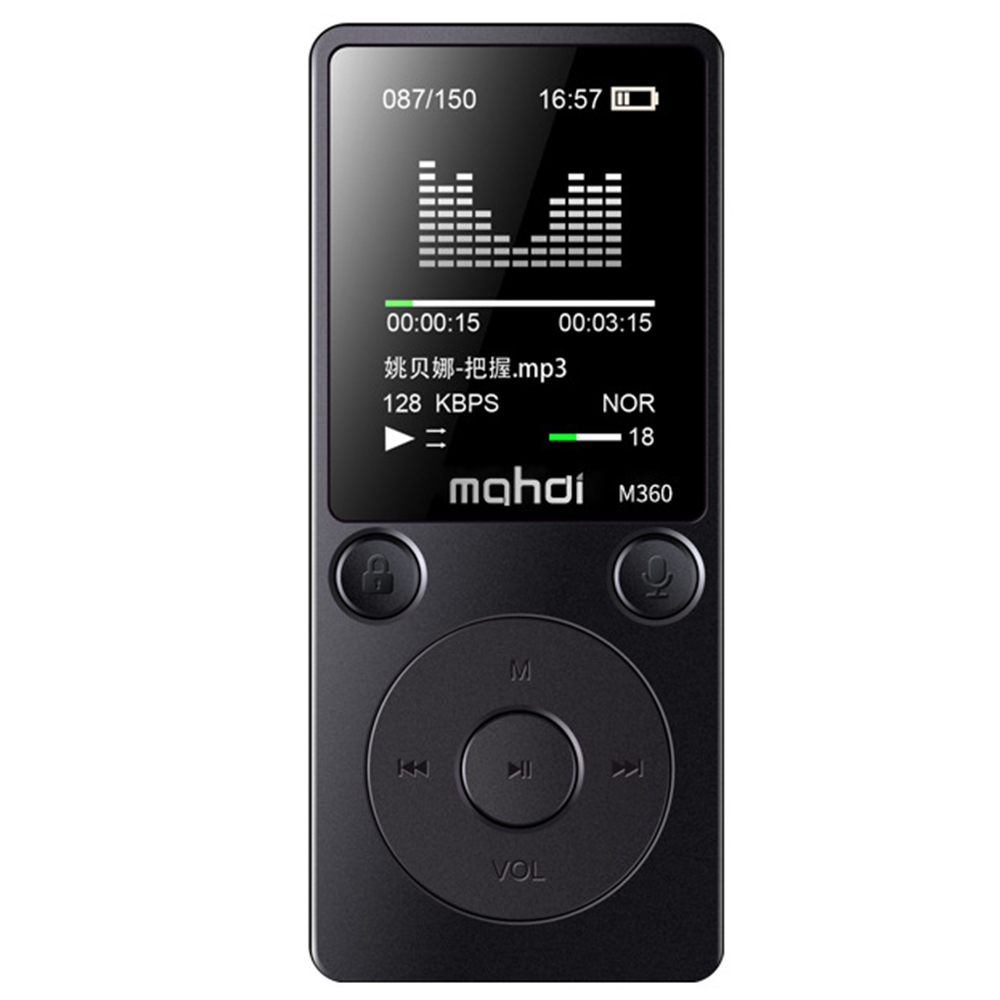 Genuine 8GB HD Digital Audio Sound Voice Recorder Dictaphone MP3 Player Support Recording APE format 10m Noise Reduction Music ...