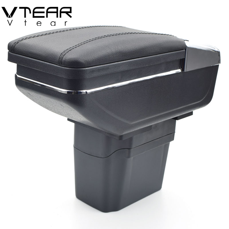 Vtear For Chevrolet Cruze armrest box central Store content Storage box cup holder ashtray interior car