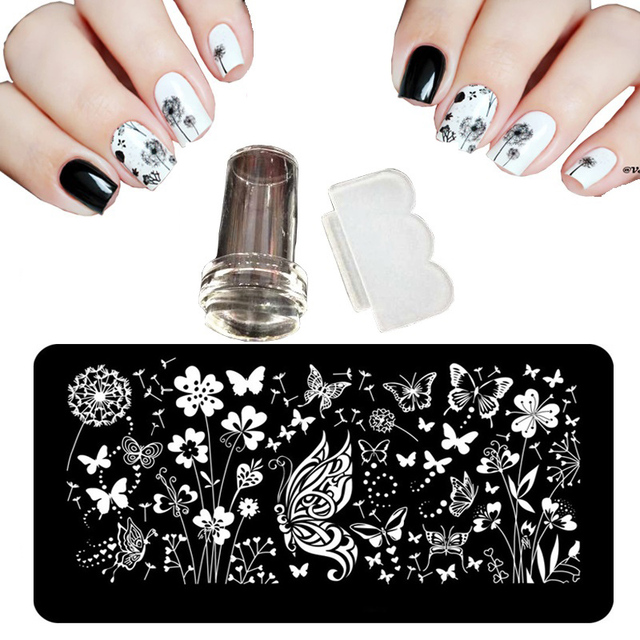 12X6cm 24 Style Nail Art Stamping Plates Shocker For Lacquer Palette ...