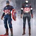 Movie Avengers Age of Ultron Steve Rogers Costume Superhero Captain America Cosplay Costume Halloween Clothing Adult Men