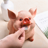 Resin Cute piggy money boxes Animal Pig banks Creative Valentine's Day gifts Birthday presents home decoration accessories