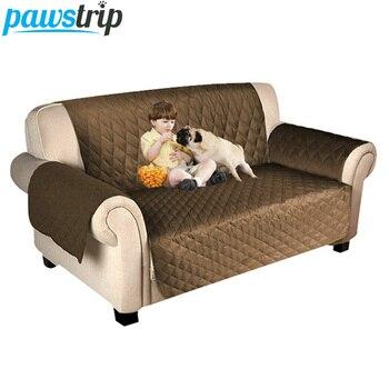 pawstrip 7 Colors Pet Sofa Cover Dog Bed Furniture Sofa Protector With Elastic Strap Waterproof Dog Mats 1/2/3 Seat Pet Sofa Bed 1