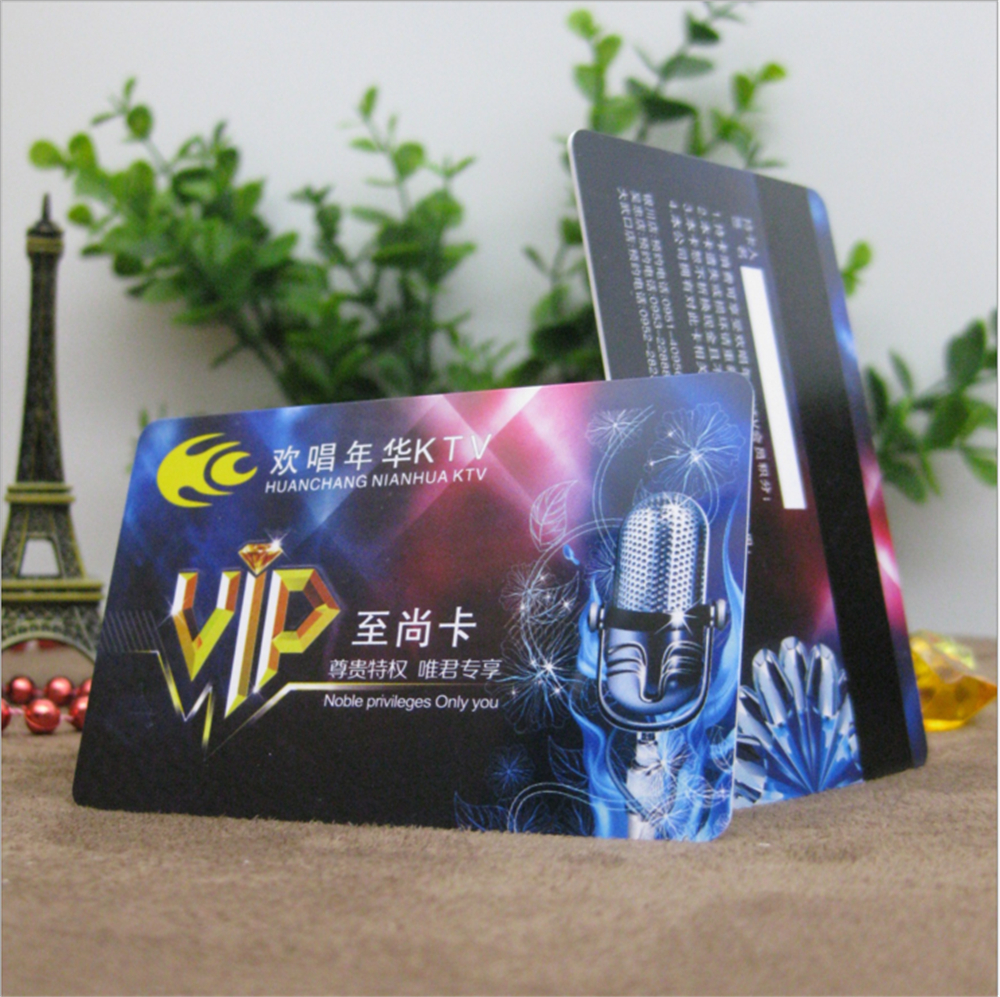50pcs custom 85554076mm magnetic stripe plastic business card 50pcs custom 85554076mm magnetic stripe plastic business card with logo printing hotel key company visiting cards for sale in business cards from office reheart Gallery