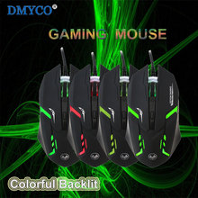 Original USB LED Multi-color Backlit Wired Mouse 4 Button Computer Gaming 2400DPI For PC Laptop Tablets Desktop Video Game