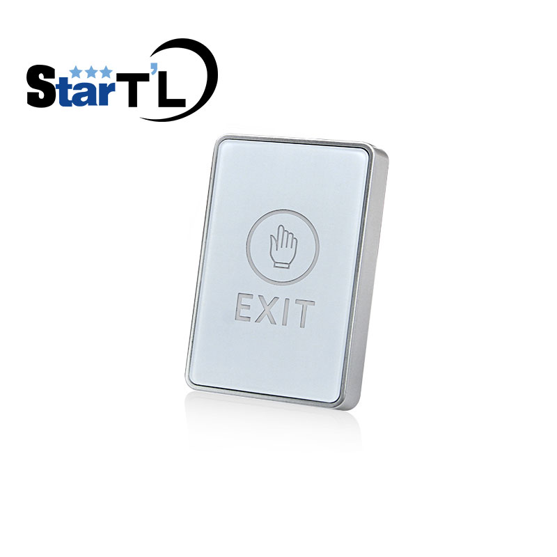 Touch Door Release Exit Button With LED Indication Door Release Switch For Access Control System