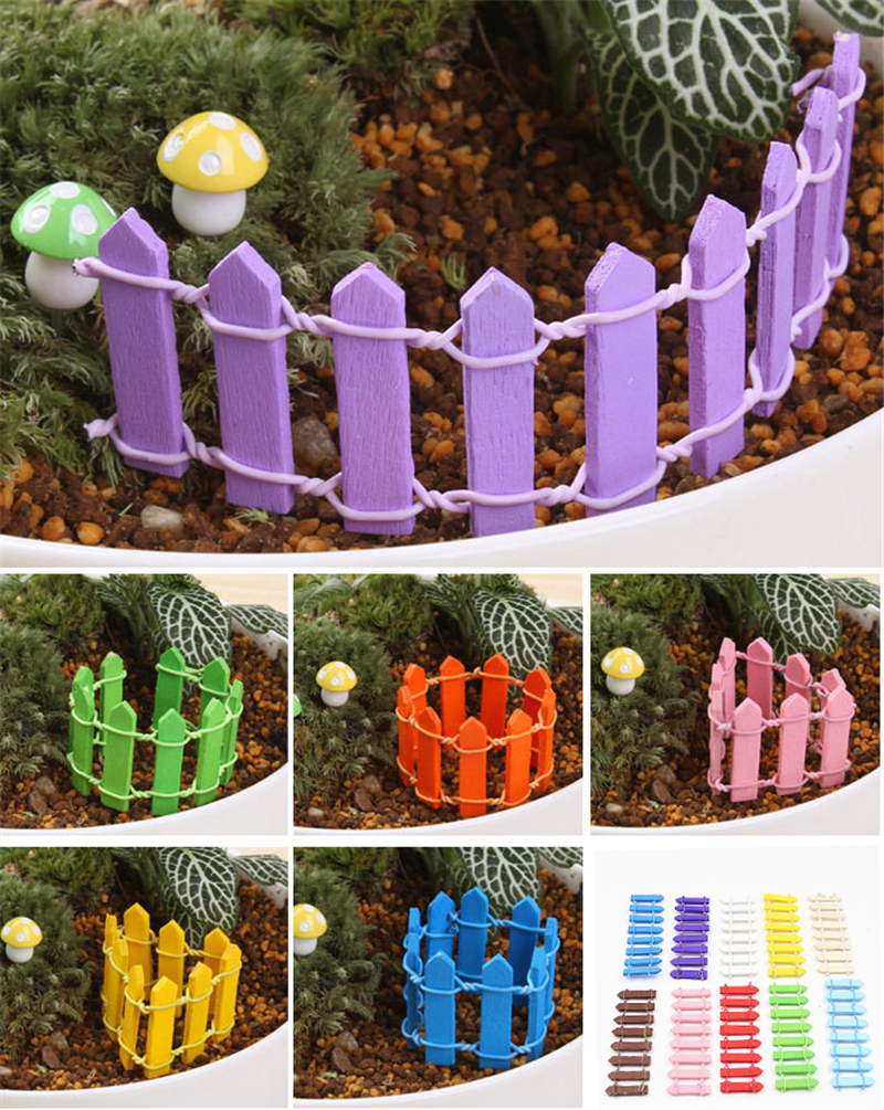 Compare prices on small garden fences online shoppingbuy low 10pcs wooden mini small fence barrier miniature fairy garden glass terrarium plant branch palings diy palisade baanklon Gallery