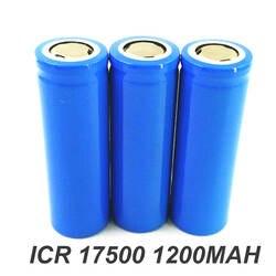 2 шт. 3,7 в ICR 17500 16500 перезаряжаемый литий-ионный аккумулятор 1200 мАч для светодиодный фонарик и динамик