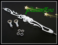 Freeshipping +3 CHROME SKULL SHIFT LINKAGE For Harley Tour Road King Glide Electra FLHR FLHT