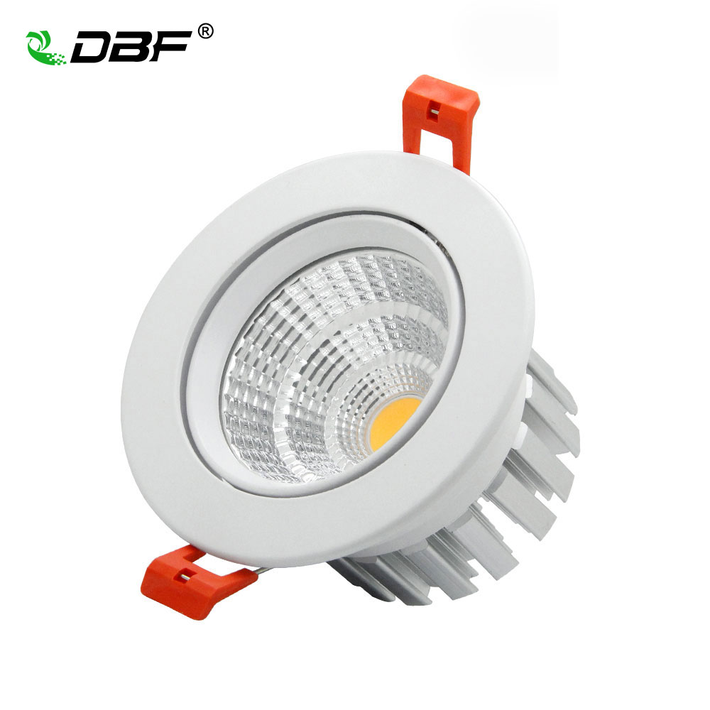 [DBF]High Quality Epistar LED COB Recessed Downlight Dimmable 6W 9W 12W 20W LED Spot Lamp Dimming Ceiling Lamp Light 110V 220V
