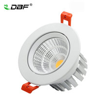 The new Super Bright Recessed LED Dimmable Downlight COB 5W 7W 9W 12W Spot light  decoration Ceiling Lamp AC 110V 220V