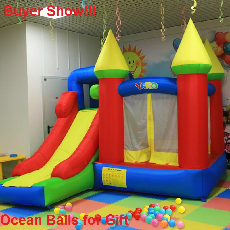YARD Inflatable Toys Slide Bounce House Outdoor Jumping Castle Bouncer Bouncy Castle Sent Free PE Balls 6210 giant super dual slide combo bounce house bouncy castle nylon inflatable castle jumper bouncer for home used
