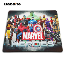 Babaite High quality Marvel Heroes Movies Pattern Optical Anti-slip Computer Mouse Mat Mice Pad Gaming Pads Size,20×25,25x29cm