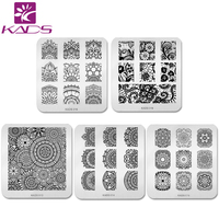 KADS 5pcs Set Elegant Chinese Flower Theme Nail Art Stamp Template Stamping Plates Classic Image Nail