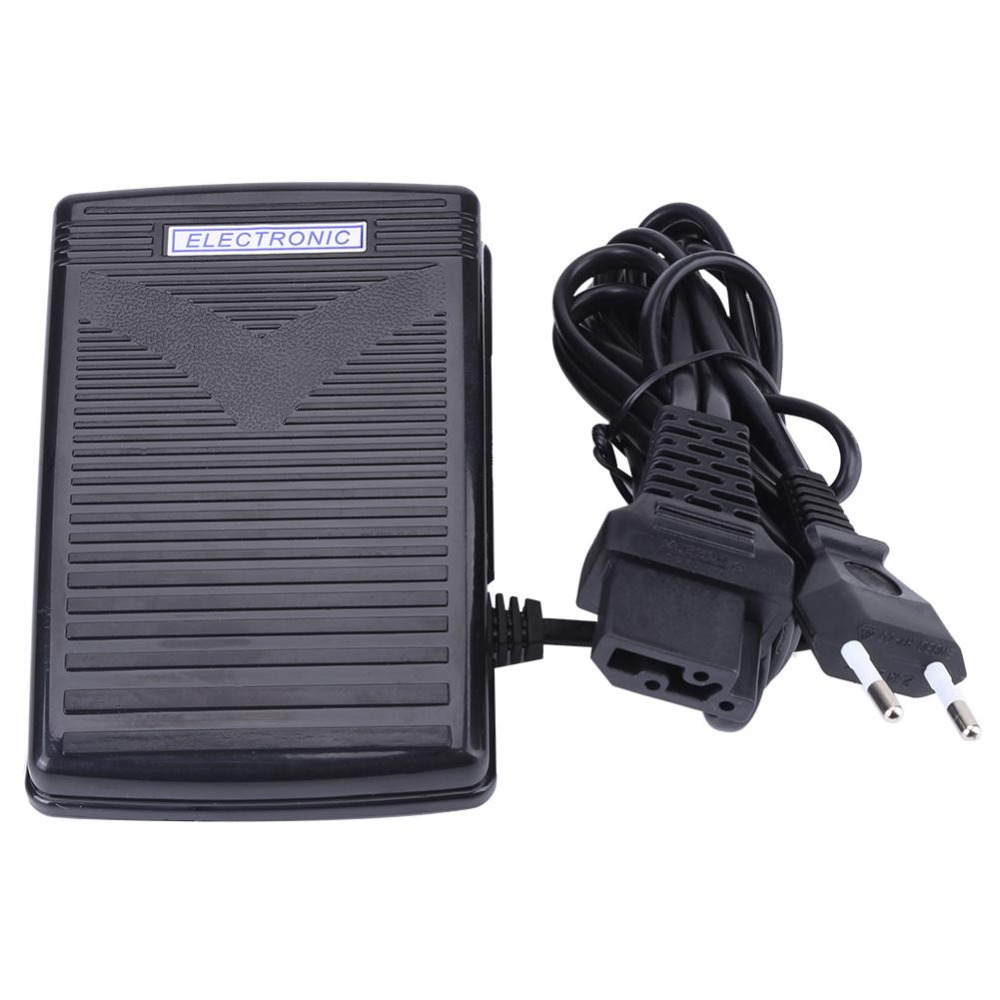 200-240V Foot Control Pedal Home Sewing Machine Foot Control Pedal With Power Cord EU plug Sewing Machine Part Sewing Tools