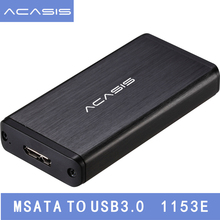 Acasis FA-2283 1.8″ inch USB 3.0 mSATA External Hard Disk Drive HDD Enclosure Case Box SSD mSATA Reader Adapter mSATA To USB3.0
