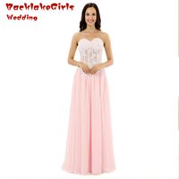 Newest 2017 Floor Length Sweetheart Neck Elegant chiffon Appliques lace Natural Evening Dresses Mother of the Bride ED004