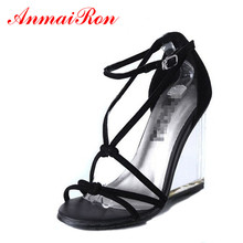 ENMAYER sexy black white cross-tied sandals summer transparent high heels shoes woman gladiator dress womens