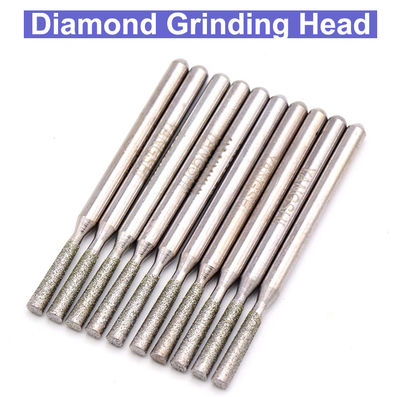 5pcs 3x3mm Diamond Grinding Head For Dremel Rotary Tools Dremel Accessories For Carving Machine Carved Grinding Mill Dremel Tool