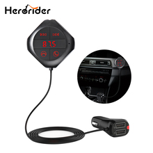 Herorider 6-in-1 Hands Free Wireless Bluetooth FM Transmitter Modulator Car MP3 Player TF/SD Memory Card USB LCD Accessories