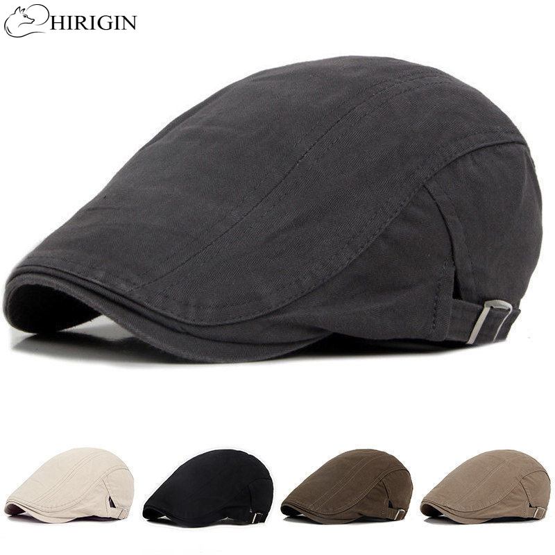 Hat Cap Beret-Caps Brim-Hats Adjustable Flat Womens Solid Herringbone Sun Outdoor