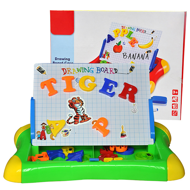 New Children Enlightening Early Teaching Writing Graffiti Puzzle Magnetic Alphabet Artboard Painting Toy projector Drawing