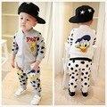 Niñas ropa niños ropa de bebé al por menor conjuntos niños de ropa niños colores impresión 50#