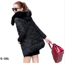 Womens down jacket new fashion elegant and hooded warm winter 2017quality office Winter women