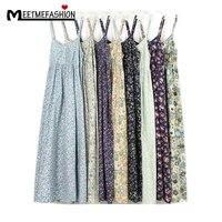 MEETMEFASHION Mori Girl Summer Dress 2018 100% Cotton Vestidos Women Sexy Spaghetti Strap Casual Beach Dress Women Floral Print