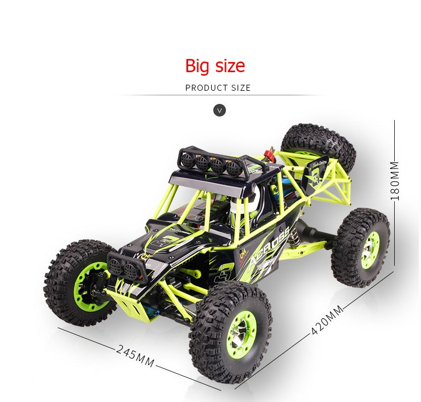 12428 RC Car 50km/h 1:12 2.4GHz 4CH 4WD Drift Remote Control Car Desert Off-road High Speed Crawler RC Car wltoys 12428 12423 1 12 rc car spare parts 12428 0091 12428 0133 front rear diff gear differential gear complete