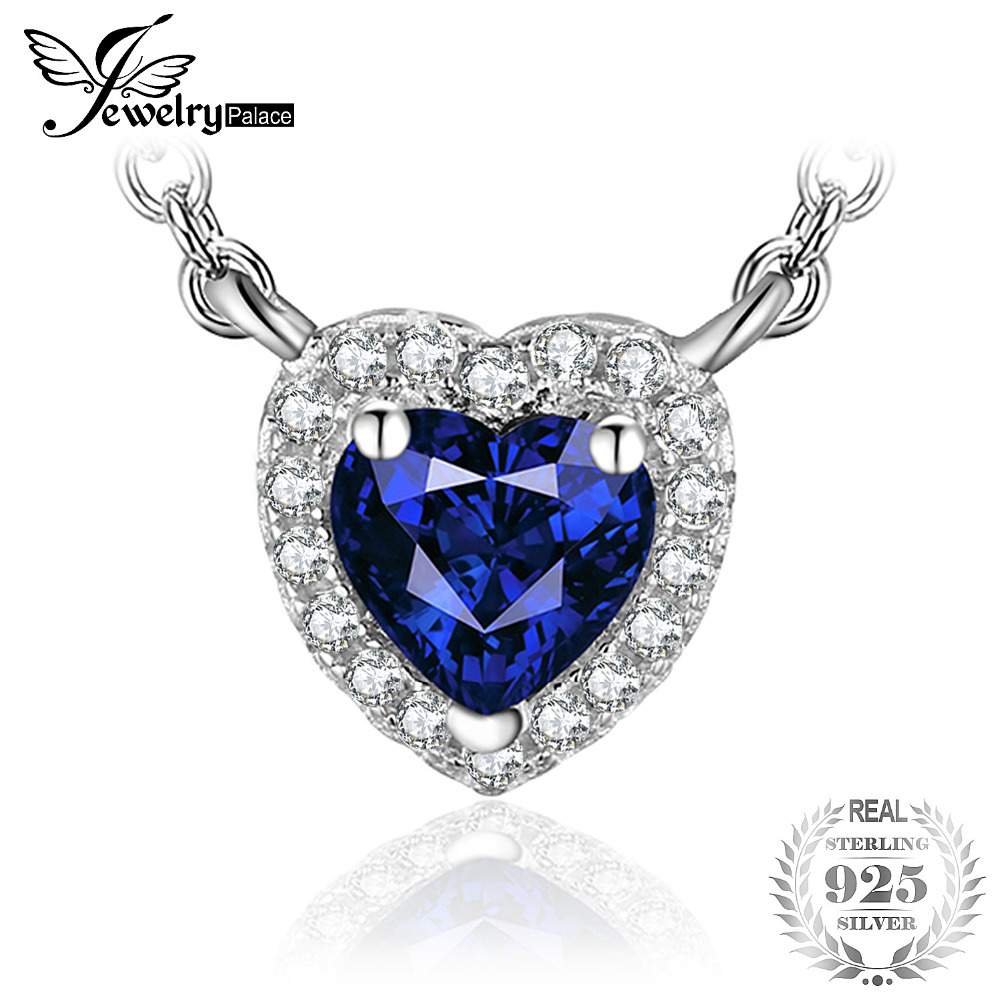 Jewelrypalace heart of the ocean 06ct created blue sapphire 925 jewelrypalace heart of the ocean 06ct created blue sapphire 925 sterling silver solitaire pendant necklace 45cm chain 2018 in necklaces from jewelry aloadofball Image collections