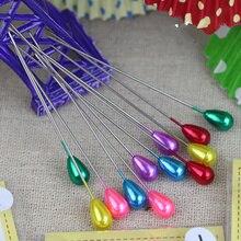 1 комплект Высокое качество красочные круглые жемчужные прямые головки булавки, кройка и Шитье pin ремесло инструмент, Швейные аксессуары