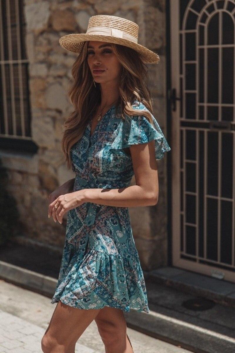 w75949-18_dress_bluepaisley-4_1 vieunsta vintage floral imprimir praia vestido de verão das mulheres novas com decote em v plissado uma linha de mini vestido elegante vestido plissado vestido de verão cinto - HTB113rQaOLxK1Rjy0Ffq6zYdVXaq - VIEUNSTA Vintage Floral Imprimir Praia Vestido de Verão Das Mulheres Novas Com Decote Em V Plissado Uma Linha de Mini Vestido Elegante Vestido Plissado Vestido de Verão Cinto