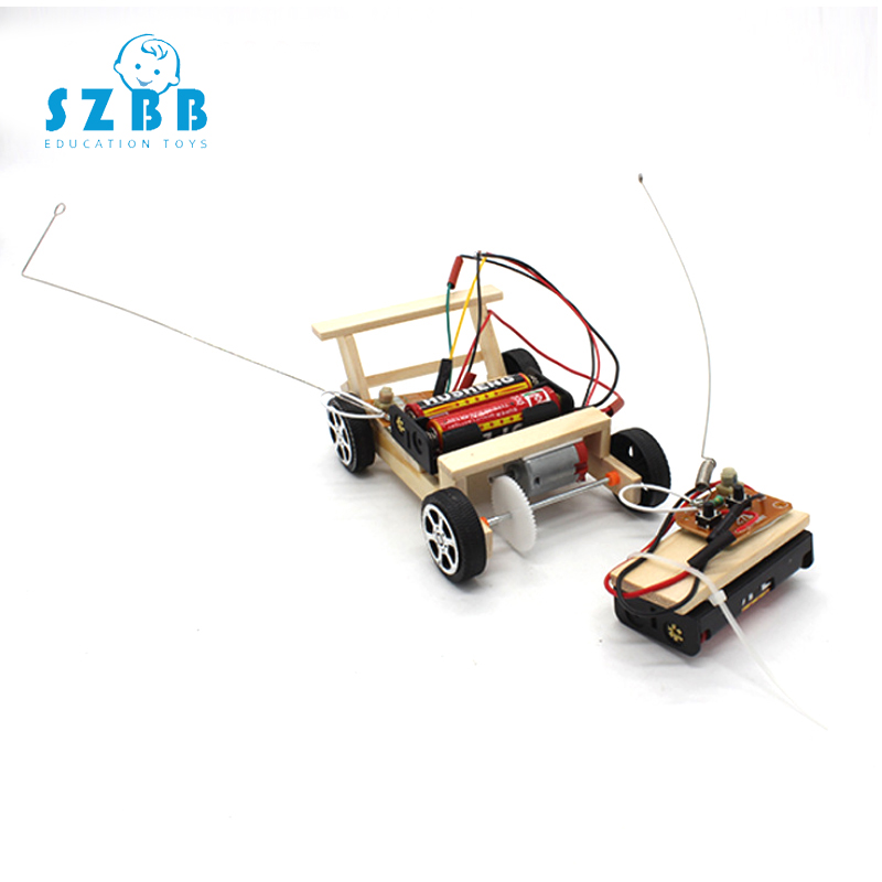 SZ STEAM Diy Wireless Remote Control Car Developing Intellectual  Toy Science Experiment Kit kids Lab Set Birthday Gift SZ3233