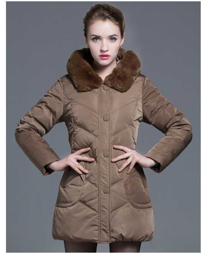 Plus Size Winter Coats 2015 Mid-Age Women Fur Collar Slim Jackets Winter Thicken Wadded Parkas Outerwear H4661