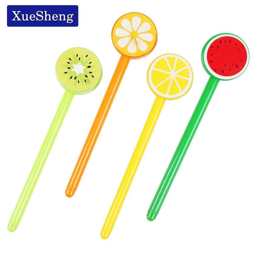 3 PCS Cute Fruit Lollipops Gel Pen Watermelon Lemon 0.5mm Black Ink Stationery For Students Office School Supplies