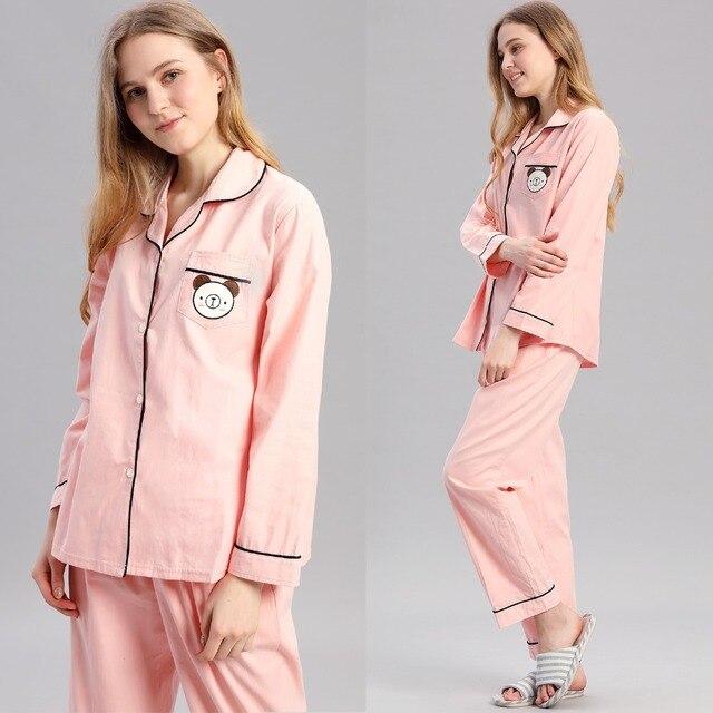 f4885c7d1b Women Winter spring Pajama Set Soft Printing pijama Home Pyjamas Woman  Cotton Pyjama Set Sleepwear Plus Size Pajamas For Women