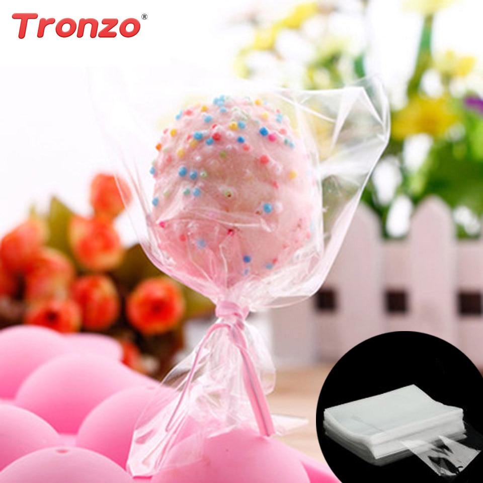 Tronzo 100pcs Gift Bag Birthday Party Decorations Kids Transparent ...