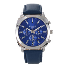 251f12da350 Relógio de quartzo dos homens HOLUNS wristwatche moda Preto Big dial  leather mens relógios top marca