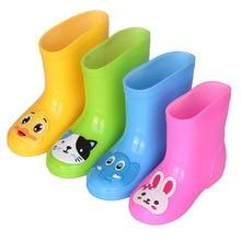 Rain Boots Kids Boys Girls Rain Boots Waterproof Baby Non-slip Water Shoes Children Rainboots All Seasons Loverly Rubber Boots цена