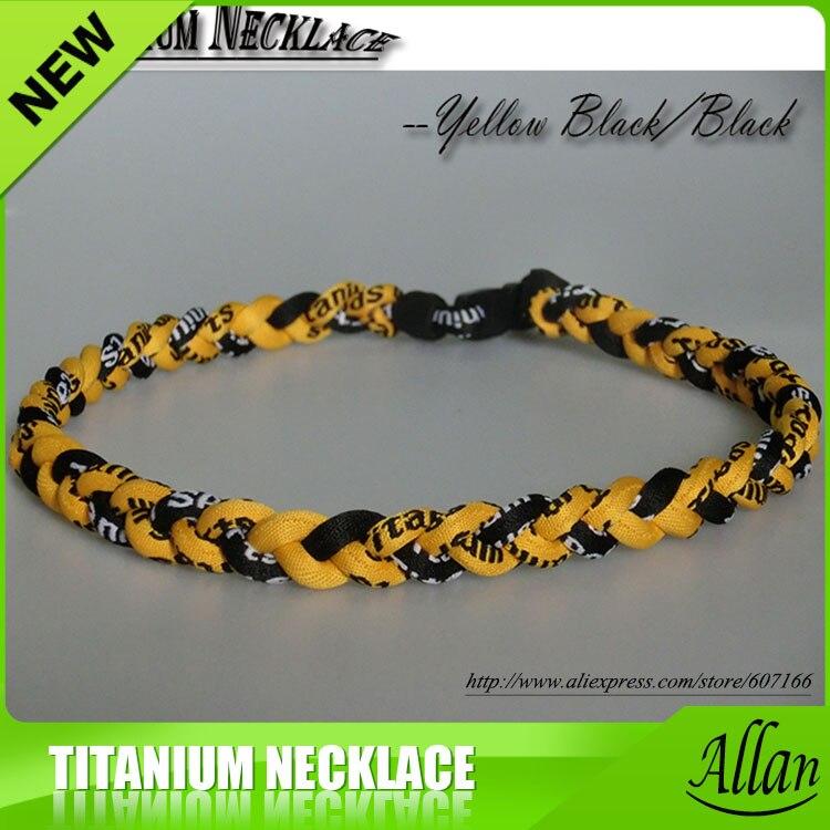 "NEW BASEBALL Titanium TORNADO Sports Necklaces 20/"" Black Pink Braided 3 ROPE"