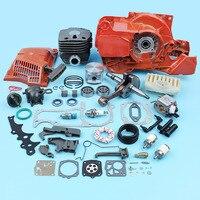 Двигатель двигателя карбюратор 50 мм цилиндрический коленчатый вал для Husqvarna бензопила 365 372 362 371 стартовый клапан Carb комплект